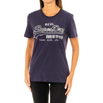 Vêtements Femme T-shirts manches courtes Superdry T-shirt à manches courtes Bleu