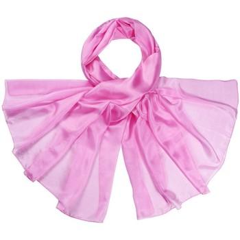 Accessoires textile Femme Echarpes / Etoles / Foulards Allée Du Foulard Etole soie unie - Couleur - Rose Rose