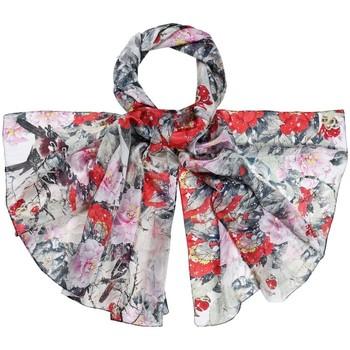 Accessoires textile Femme Echarpes / Etoles / Foulards Allée Du Foulard Etole soie Floraly Gris