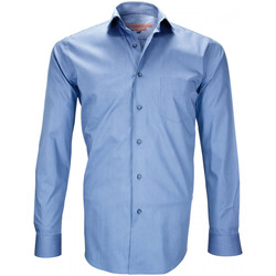 Vêtements Homme Chemises manches longues Andrew Mc Allister chemises double fil 120/2 carnaby bleu Bleu