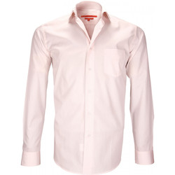 Vêtements Homme Chemises manches longues Andrew Mc Allister chemises double fil 120/2 carnaby rose Rose