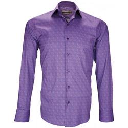 Vêtements Homme Chemises manches longues Emporio Balzani chemise stretch benedetto violet Violet