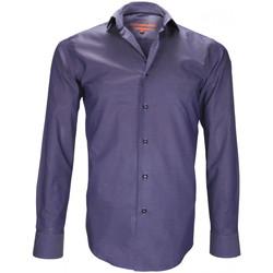 Vêtements Homme Chemises manches longues Andrew Mc Allister chemise tissu armure finchley bleu Bleu