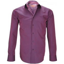 Vêtements Homme Chemises manches longues Andrew Mc Allister chemise mode finchley bordeaux Bordeaux