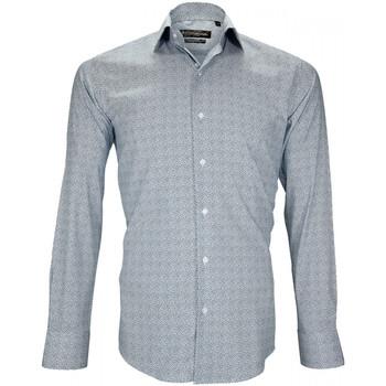 Vêtements Homme Chemises manches longues Emporio Balzani chemise liberty agrigente bleu Bleu