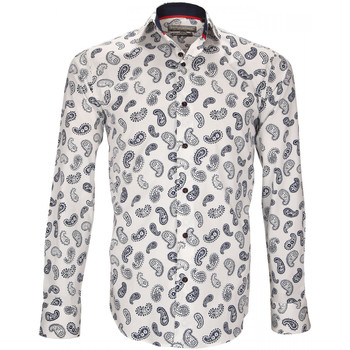Vêtements Homme Chemises manches longues Emporio Balzani chemise a motifs san severo blanc Blanc