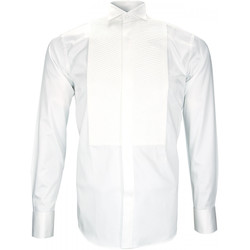 Vêtements Homme Chemises manches longues Andrew Mc Allister chemise a plastron windsor blanc Blanc