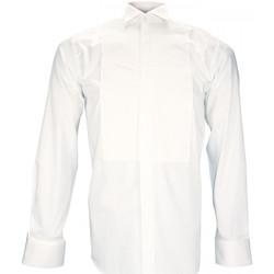 Vêtements Homme Chemises manches longues Andrew Mc Allister chemise a plastron churchil blanc Blanc