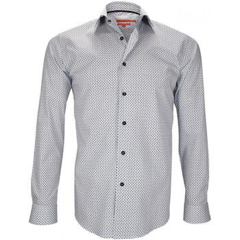 Vêtements Homme Chemises manches longues Andrew Mc Allister chemise imprimee kilburn blanc Blanc