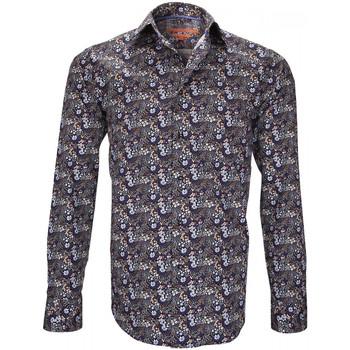 Vêtements Homme Chemises manches longues Andrew Mc Allister chemise fantaisie tottenham bleu Bleu