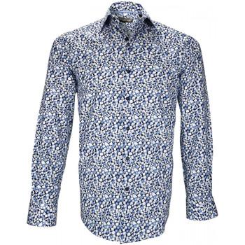 Vêtements Homme Chemises manches longues Emporio Balzani chemise fantaisie mirafiori bleu Bleu