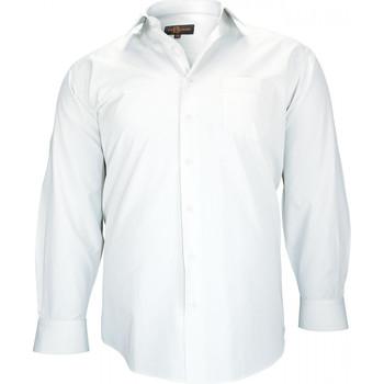 Vêtements Homme Chemises manches longues Doublissimo chemise classique cardiff bleu Bleu