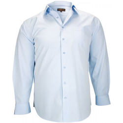 Vêtements Homme Chemises manches longues Doublissimo chemise classique cardiff blanc Blanc