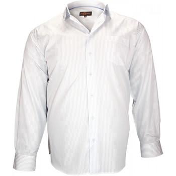 Vêtements Homme Chemises manches longues Doublissimo chemises double fil 120/2 bristol bleu Bleu