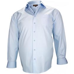 Vêtements Homme Chemises manches longues Doublissimo chemise haut de gamme birmingham bleu Bleu