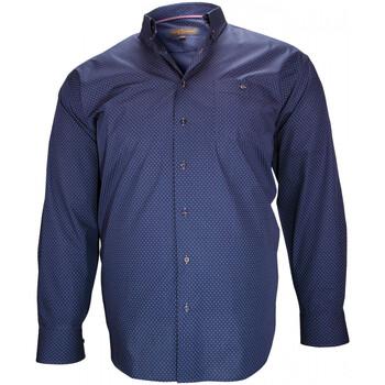 Vêtements Homme Chemises manches longues Doublissimo chemise fantaisie sheffield bleu Bleu