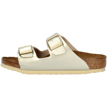 Chaussures Fille Mules Birkenstock 1014841 platine
