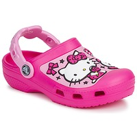 Chaussures Fille Sabots Crocs HELLO KITTY CANDY RIBBONS CLOG Rose