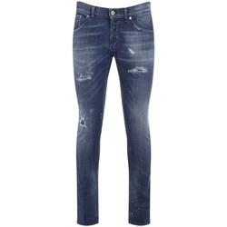 Vêtements Homme Jeans slim Dondup Jeans Richie bleu avec des déchirures Bleu