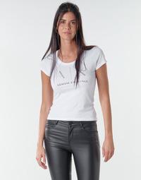 Vêtements Femme T-shirts manches courtes Armani Exchange 8NYT83 Blanc