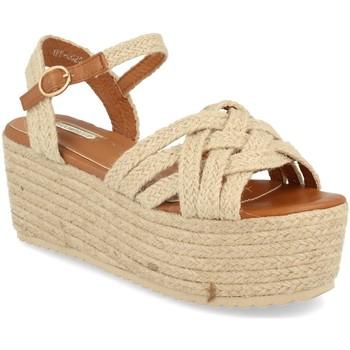 Chaussures Femme Sandales et Nu-pieds Buonarotti 1FF-0026 Beige