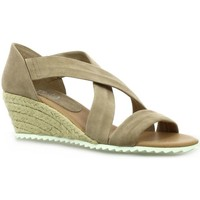 Chaussures Femme Sandales et Nu-pieds Latina Nu pieds cuir velours Taupe