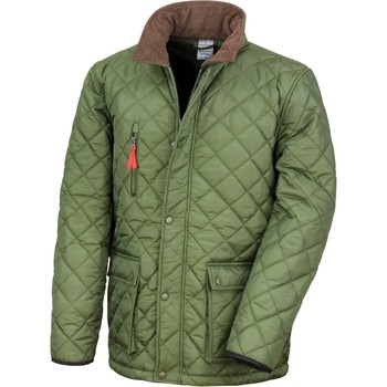 Vêtements Manteaux Result Veste  Cheltenham Gold vert olive