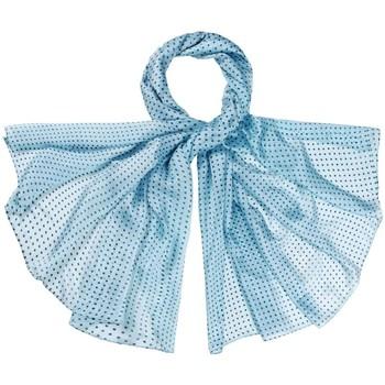 Accessoires textile Femme Echarpes / Etoles / Foulards Allée Du Foulard Etole soie Apala Bleu