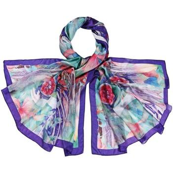 Accessoires textile Femme Echarpes / Etoles / Foulards Allée Du Foulard Etole soie Flor violet