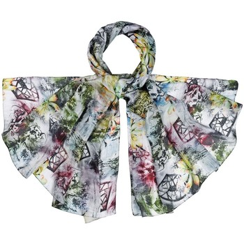 Accessoires textile Femme Echarpes / Etoles / Foulards Allée Du Foulard Etole soie Storia gris