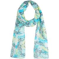 Accessoires textile Femme Echarpes / Etoles / Foulards Sacaly Echarpe mousseline de soie Mosaïk Bleu