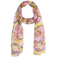 Accessoires textile Femme Echarpes / Etoles / Foulards Sacaly Echarpe mousseline de soie Mosaïk Jaune