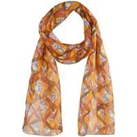 Accessoires textile Femme Echarpes / Etoles / Foulards Sacaly Echarpe mousseline de soie Diam Orange