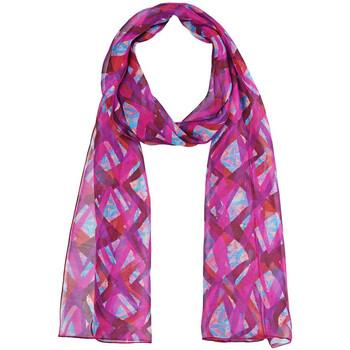 Accessoires textile Femme Echarpes / Etoles / Foulards Sacaly Echarpe mousseline de soie Diam Fuchsia