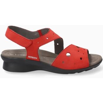 Chaussures Femme Sandales et Nu-pieds Mephisto Sandale PHIBY PERF Noir Rouge