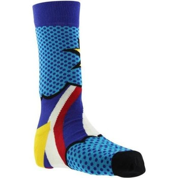 Accessoires Homme Chaussettes Happy Socks Chaussettes Homme Coton DAD Bleu Jaune Bleu
