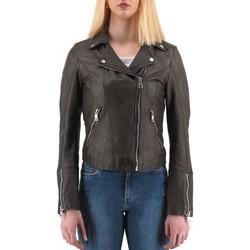 Vêtements Femme Blousons Montereggi Veste en cuir noire  MTRTT4800 109 40 Noir
