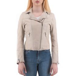 Vêtements Femme Blousons Montereggi Veste en cuir beige  MTRTT4800 109 81 Beige