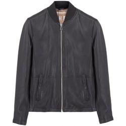 Vêtements Homme Blousons Montereggi Veste en cuir de motard noire  MTRTT8400 1 Noir