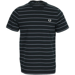 Vêtements Homme T-shirts manches courtes Fred Perry Fine Stripe T-shirt bleu