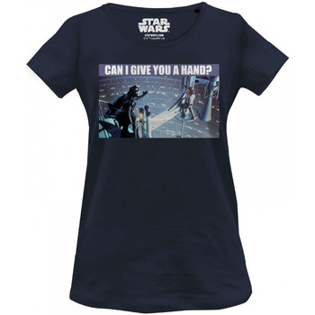 Vêtements Femme T-shirts manches courtes Cotton Division T-shirt Femme Star Wars - Can I Give You A Hand Navy