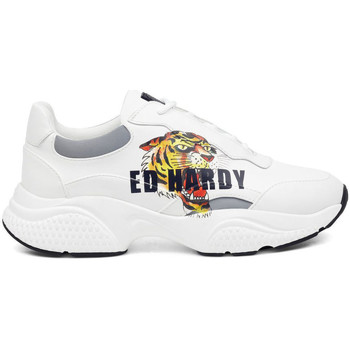 Chaussures Baskets basses Ed Hardy Insert runner-tiger-white/multi Blanc