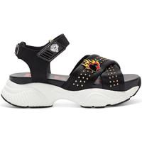 Chaussures Femme Sandales sport Ed Hardy Flaming sandal black Noir