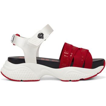 Chaussures Femme Sandales sport Ed Hardy Overlap sandal red/white Rouge