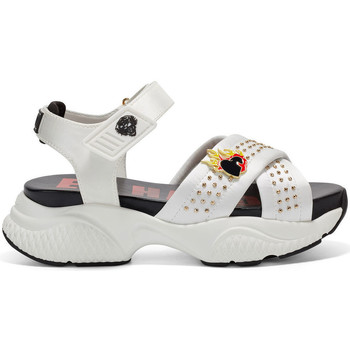 Chaussures Femme Sandales sport Ed Hardy Flaming sandal white Blanc