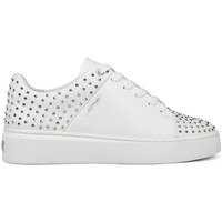 Chaussures Baskets basses Ed Hardy Stud-ed low top white/silver Blanc