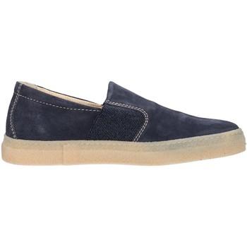 Chaussures Homme Slip ons IgI&CO 87254 sneakers scarpe uomo in pelle blu con memory foam Blue