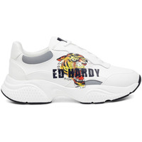 Chaussures Homme Baskets basses Ed Hardy - Insert runner-tiger-white/multi Blanc