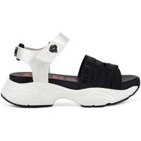 Chaussures Femme Sandales et Nu-pieds Ed Hardy - Overlap sandal black/white Blanc
