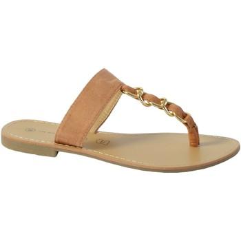 Chaussures Femme Sandales et Nu-pieds The Divine Factory Sandale Mule TDF4104 Camel